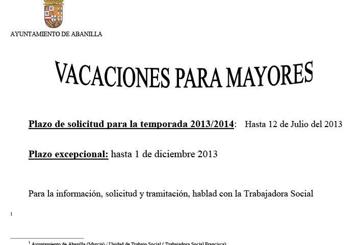 cartelvacaciones2013