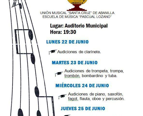CartelAudicionesConciertoFinCurso20142015