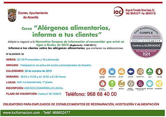 CURSO DE ALERGENOS abanilla octubre 2015