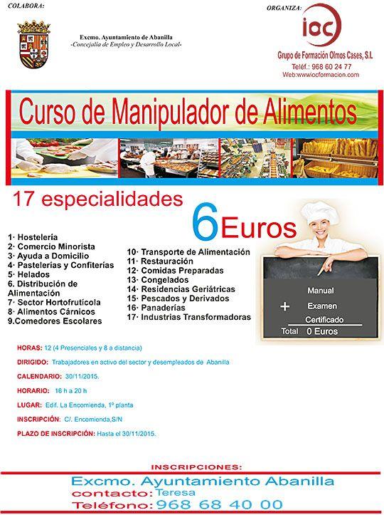 MANIPULADOR DE ALIMENTOS 2015