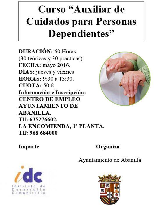 Auxiliar Cuidados Personas Dependientes