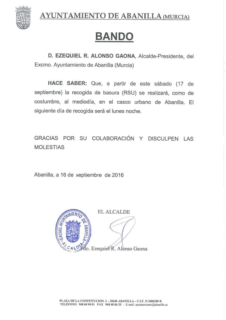 Bando Basura Sept2016