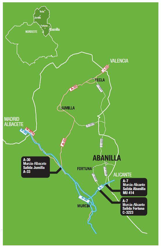 mapa carreteras abanilla