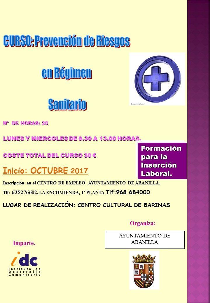 2017 CARTEL BARINAS prl sanitario