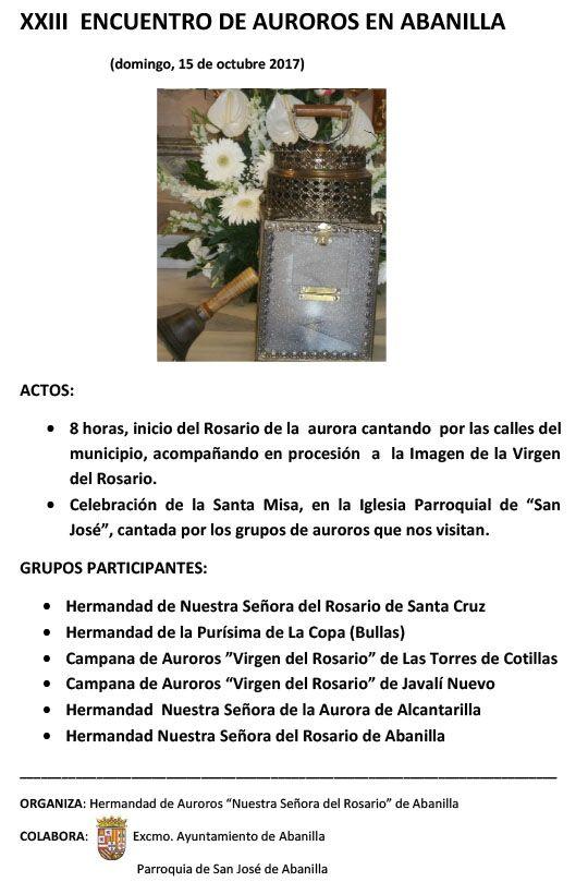 XXIII ENCUENTRO DE AUROROS EN ABANILLA