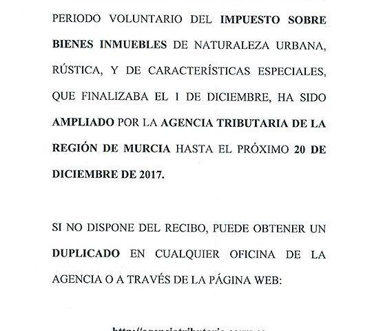 ANUNCIO AGENCIA RECAUDACION PLAZA PERIODO VOLUNTARIO