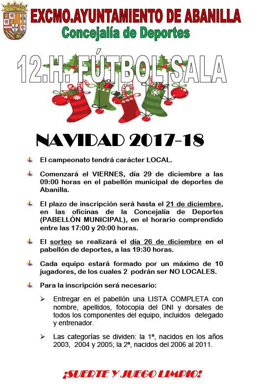 CARTEL 12 HORAS FS NAVIDAD 17 18