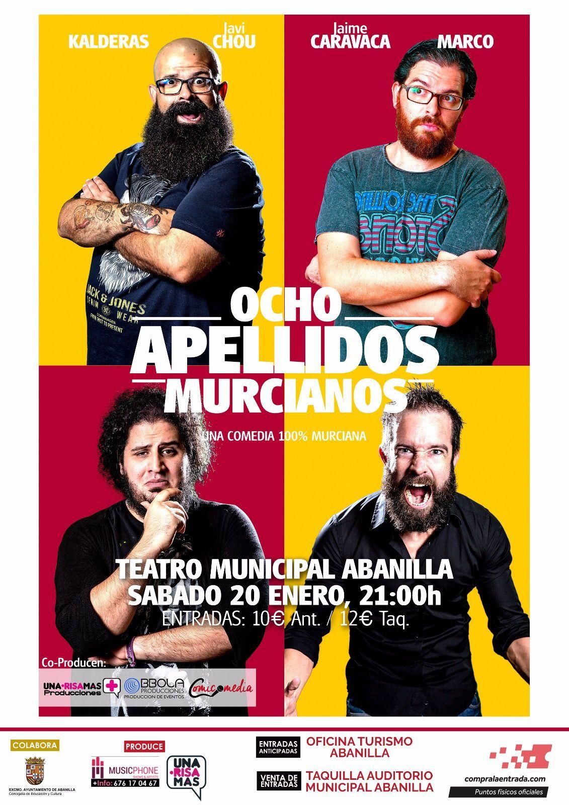 Comedia Ocho Apellidos Murcianos en Abanilla