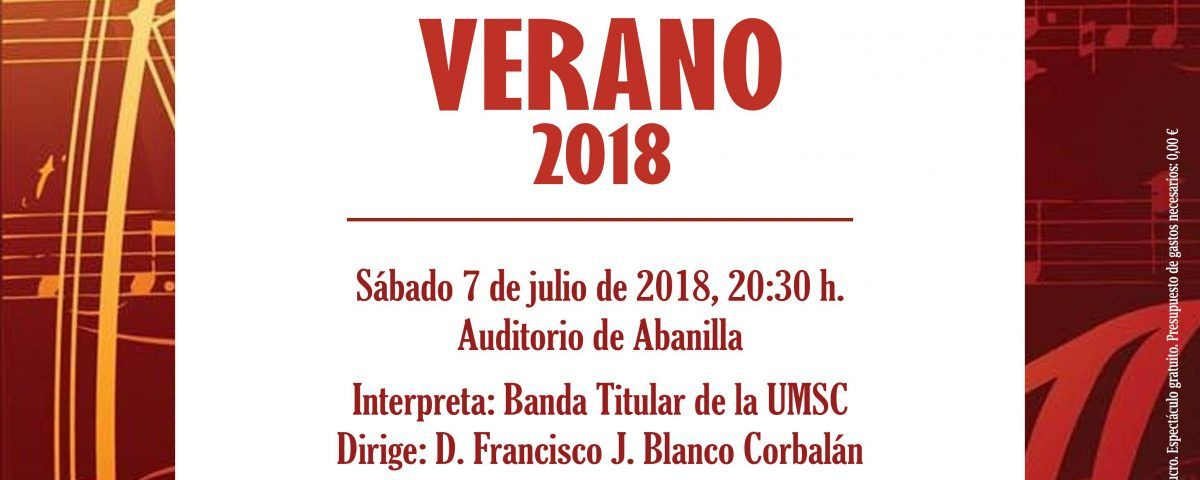 concierto verano 2018