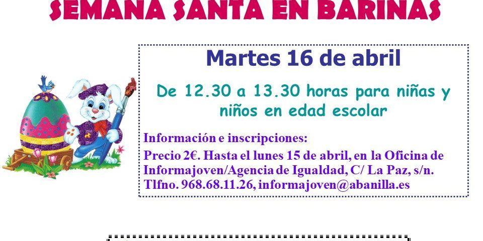 TALLERES INFANTILES DE SEMANA SANTA EN BARINAS 2019