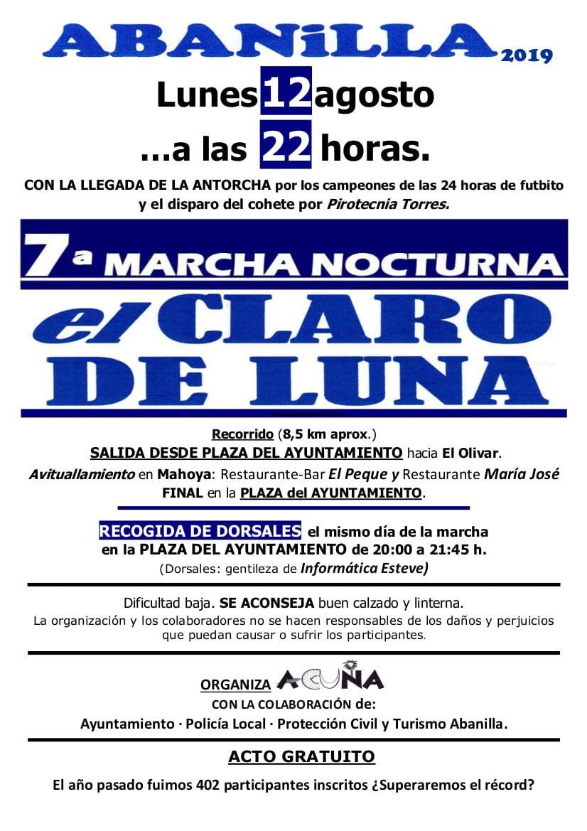 7 marcha nocturna el claro de luna