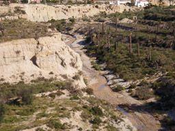 Vista de río Chícamo desde la pedanía de Sahués